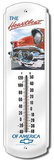 Chevy Chevrolet Heartbeat Indoor/Outdoor Weather Thermometer Tin Sign