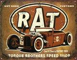 Rat Hot Rods Torque Brothers Speed Shop Cartel de metal