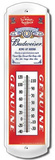 Budweiser Beer Label Indoor/Outdoor Weather Thermometer Tin Sign