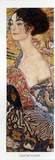 Lady with Fan Detail Poster von Gustav Klimt