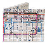 Chicago L Train Subway Map Tyvek Mighty Wallet Wallet