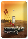 Vintage Car Convertible Double Arrow Light Switch Plate Tin Sign
