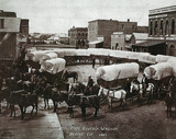 Circle of Covered Wagons Denver Colorado Poster