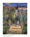 The Artist&#39;s Garden at Vetheuil Art by Claude Monet