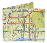 NYC New York City Subway Map Mighty Wallet Wallet