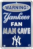 New York Yankees Fan Man Cave Tin Sign