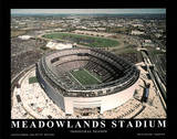 New York Giants New York Jets New Meadowlands Stadium Inaugural Season Posters by Mike Smith
