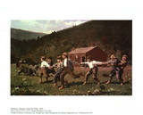 Snap the Whip Affiches par Winslow Homer