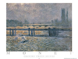 Charing Across Bridge Posters by Claude Monet