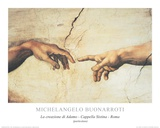 La Creazione (The Creation) Poster par Michelangelo Buonarroti