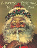Santa Claus A Merry Christmas To You Tin Sign