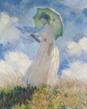 A Woman with a Sunshade Art by Claude Monet
