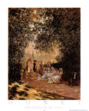 Promenade en Parc Prints by Claude Monet