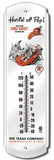 Texaco Hatful of Pep Indoor/Outdoor Thermometer Tin Sign