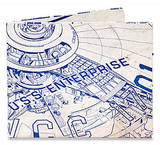 Star Trek Enterprise Ship Blueprints Tyvek Mighty Wallet Wallet
