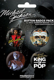 Michael Jackson - King of Pop, Commemorative Music Button Pin 4-Pack Badge