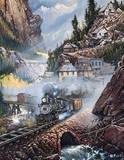 Silverdale Run Train by Blaylock Tin Sign