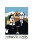 Grant Wood American Gothic Plaque en m&#233;tal