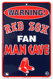 Boston Red Sox Fan Man Cave Plaque en métal