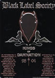 Black Label Society Kings of Damnation Blikskilt