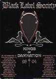 Black Label Society Kings of Damnation Blikskilt