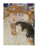 The Three Ages of Woman Detail Kunstdrucke von Gustav Klimt