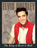 Elvis Presley The King of Rock and Roll Portrait Tin Sign