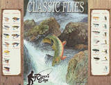 River's Edge Classic Flies Trout Fishing Tin Sign