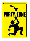 Party Zone Tin Sign