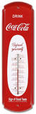Drink Coca Cola Red Indoor/Outdoor Thermometer Tin Sign