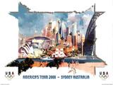 America's Team Sydney Australia 2000 Affiche par Charles Billich