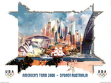America's Team Sydney Australia 2000 Print by Charles Billich