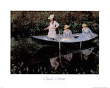 Boat Girl Prints by Claude Monet