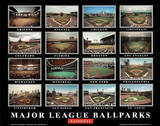 Major League Ballparks Collage National League Sports Prints by Ira Rosen