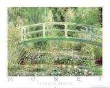 Japanese Bridge Prints by Claude Monet