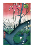 Plum Estate Kameido Affiches par Ando Hiroshige