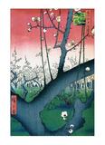 Plum Estate Kameido Kunstdrucke von Ando Hiroshige
