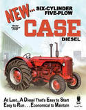 Case 500 Diesel Tractor Tin Sign
