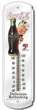 Coca Cola Sprite Boy 5 Cent Bottles Indoor/Outdoor Thermometer Tin Sign