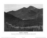 Parque Nacional de las Montañas Rocosas Lámina por Ansel Adams