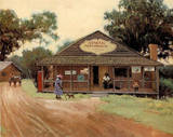 Johnsons Store (Old Time) Poster