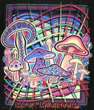 Magic Mushrooms Blacklight Reactive Cloth Wall Hanging Tapestry Prints