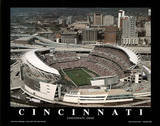 Cincinnati Bengals Paul Brown Stadium Sports Poster by Brad Geller