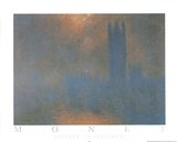 Londres Le Parlement Print by Claude Monet