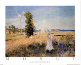 La Promenade Print by Claude Monet