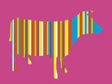 Striped Cow Prints by Lyonel Maillot