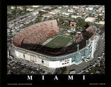 Miami Hurricanes Orange Bowl Sports Print by Brad Geller