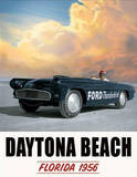 Ford Thunderbird Daytona Beach Tin Sign