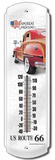 Route 66 Woody Car Indoor/Outdoor Thermometer Tin Sign