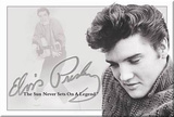 Elvis Presley Sun Never Sets on a Legend Magnet Magnet